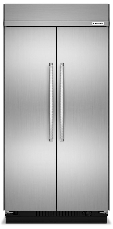 kitchenaid stainless steel side by side refrigerator 30 0 cu ft kkbsn608ess leon 39 s. Black Bedroom Furniture Sets. Home Design Ideas