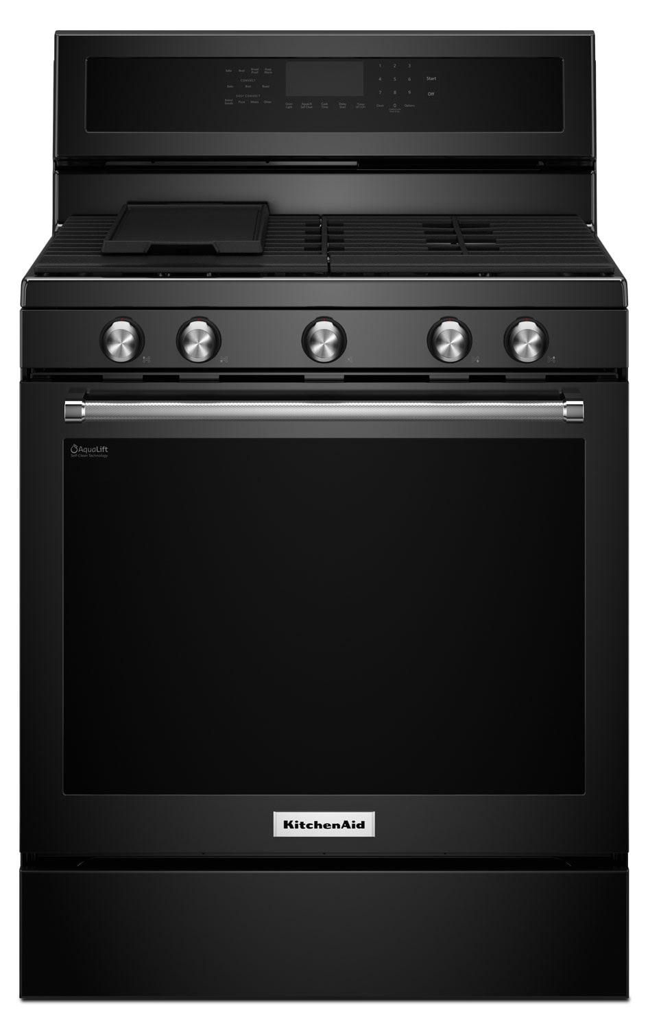 Cooking Products - KitchenAid Black Freestanding Gas Range (5.8 Cu. Ft.) - KFGG500EBL