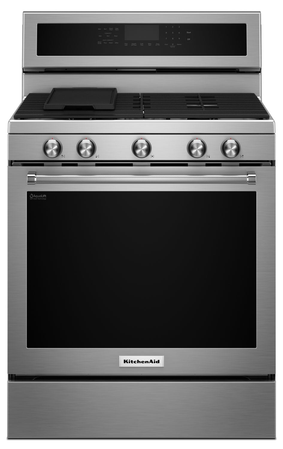 Cooking Products - KitchenAid Stainless Steel Freestanding Gas Range (5.8 Cu. Ft.) - KFGG500ESS
