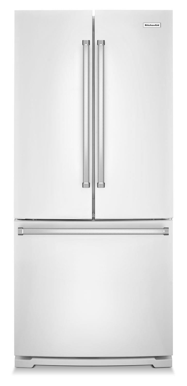 Refrigerators and Freezers - KitchenAid White French Door Refrigerator (19.7 Cu. Ft.) KRFF300EWH