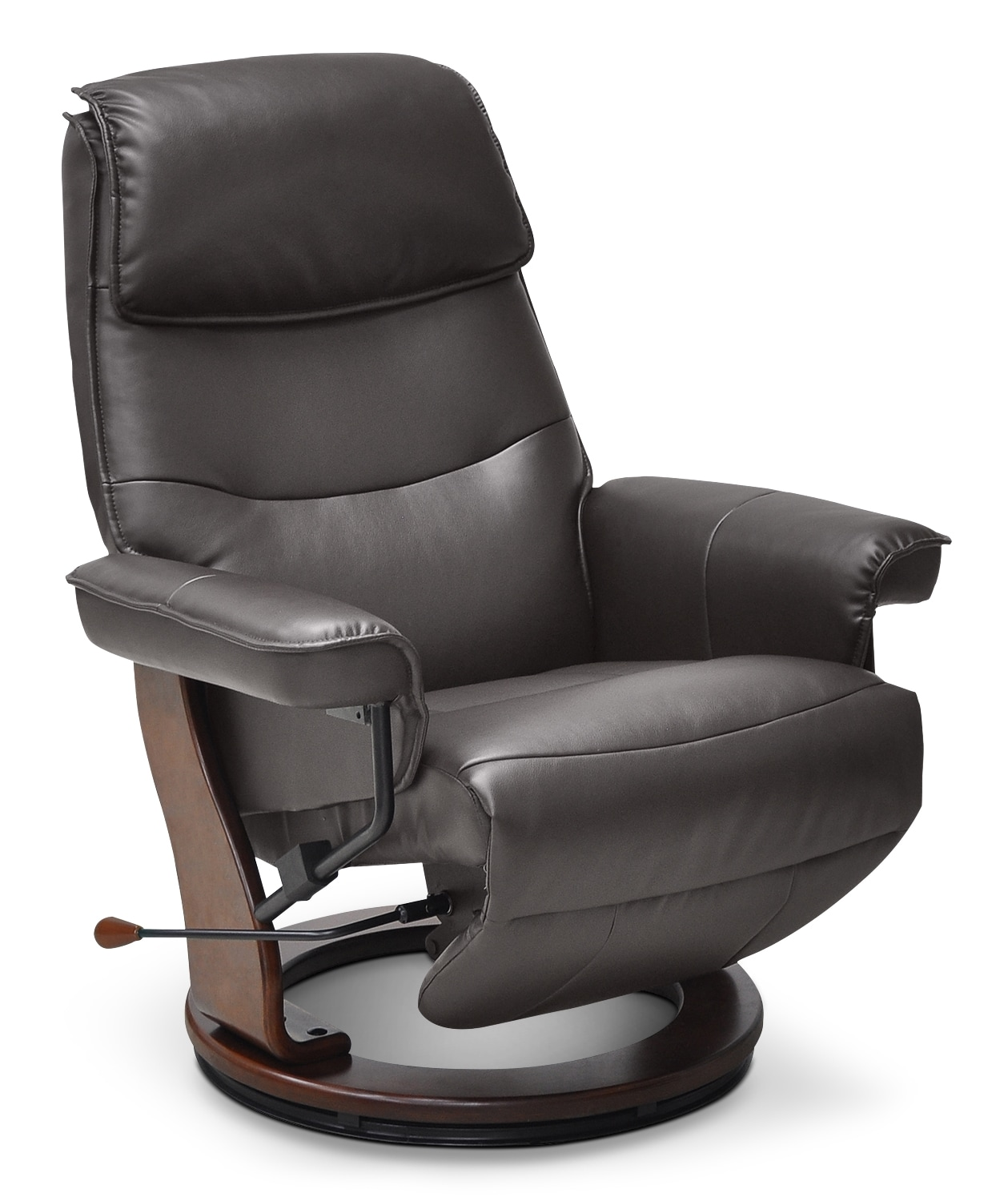 Living Room Furniture - Boyd Faux Leather Reclining Chair – Brown