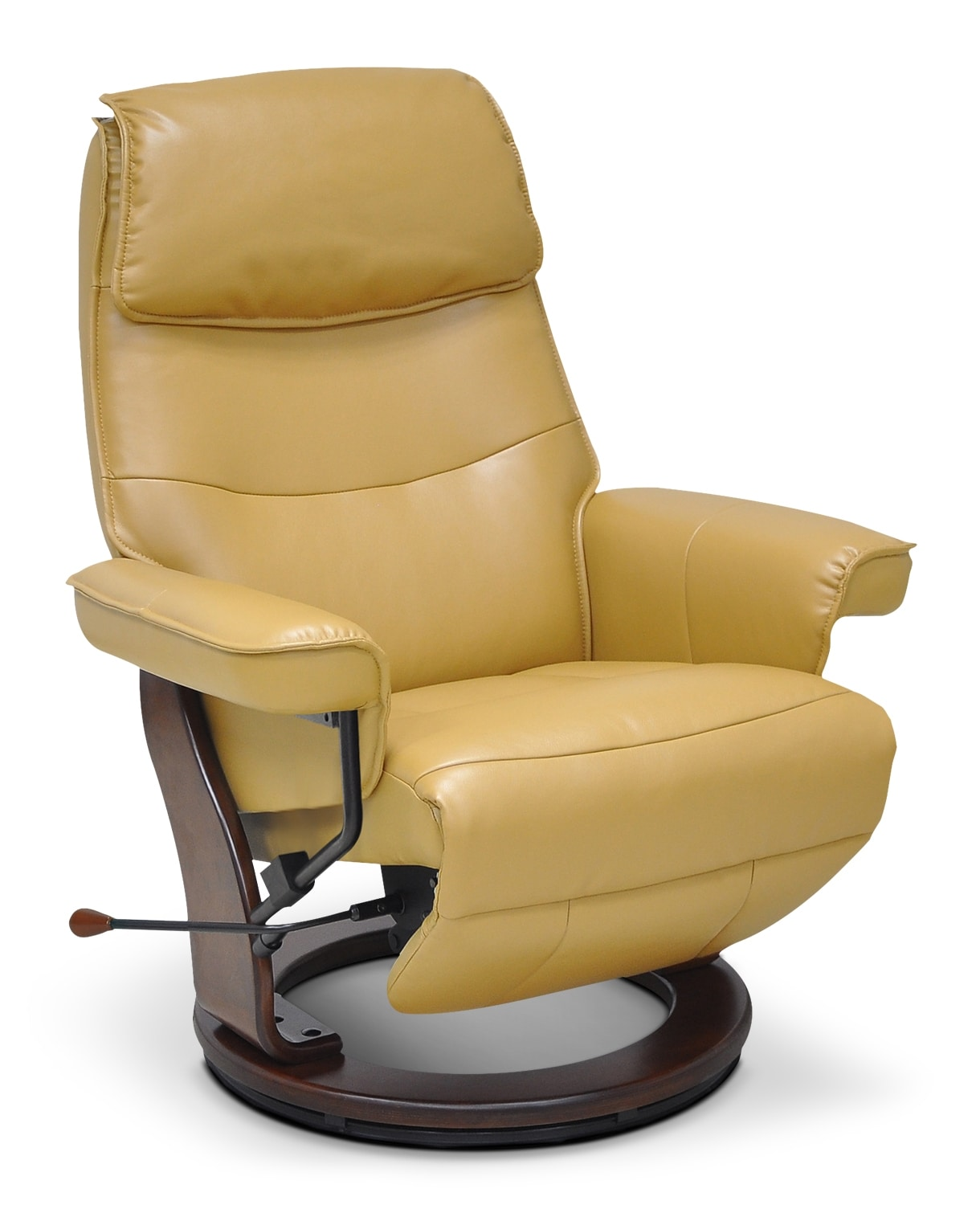 Boyd Faux Leather Reclining Chair – Saddle