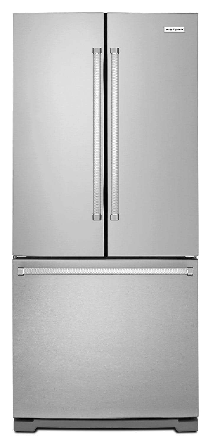 Refrigerators and Freezers - KitchenAid Stainless Steel French Door Refrigerator (20 Cu. Ft.) - KRFF300ESS