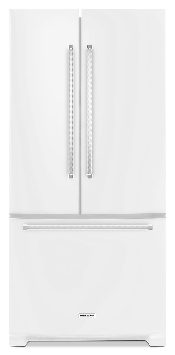 Refrigerators and Freezers - KitchenAid White French Door Refrigerator (22.1 Cu. Ft.) - KRFF302EWH