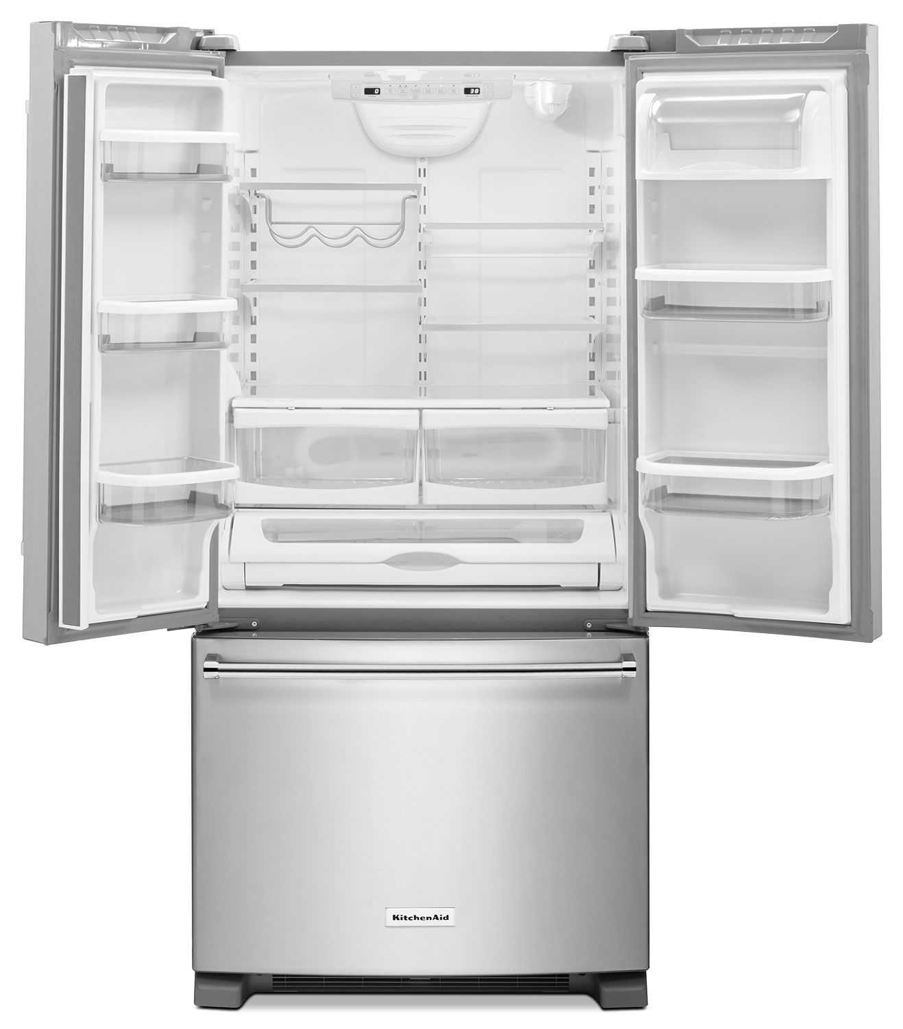 KitchenAid Stainless Steel French Door Refrigerator 22 1 Cu Ft