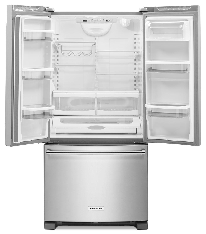Kitchenaid 22 1 Cu Ft French Door Refrigerator With Ice: KitchenAid Stainless Steel French Door Refrigerator (22.1 Cu. Ft.) - KRFF302ESS
