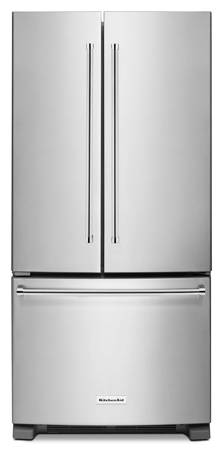 Refrigerators and Freezers - KitchenAid Stainless Steel French Door Refrigerator (22.1 Cu. Ft.) - KRFF302ESS