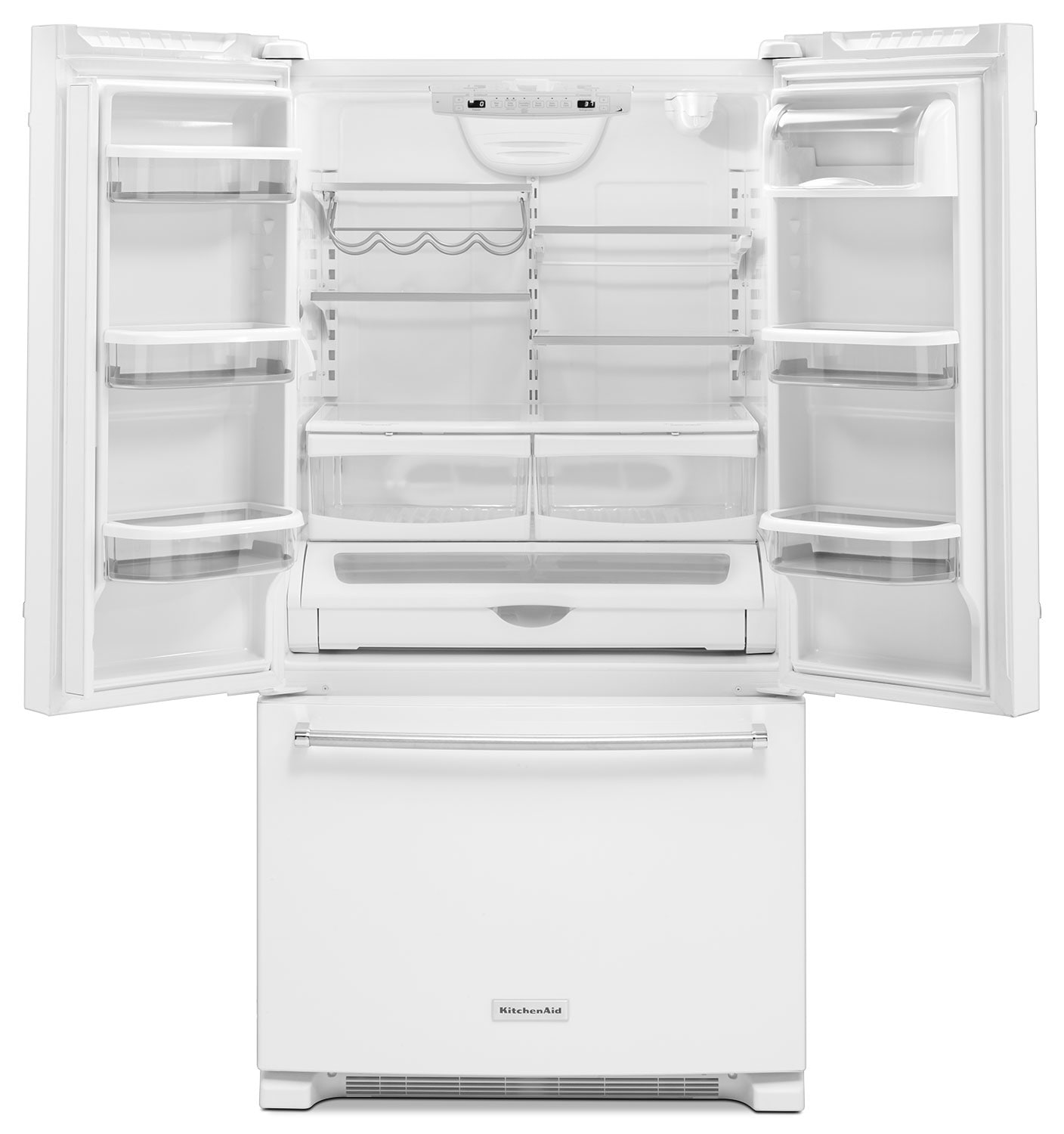Kitchenaid White French Door Refrigerator 25 Cu Ft