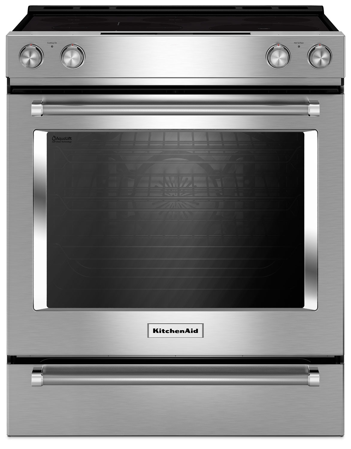 Cooking Products - KitchenAid 7.1 Cu. Ft. Slide-In Convection Range with Baking Drawer - Stainless Steel