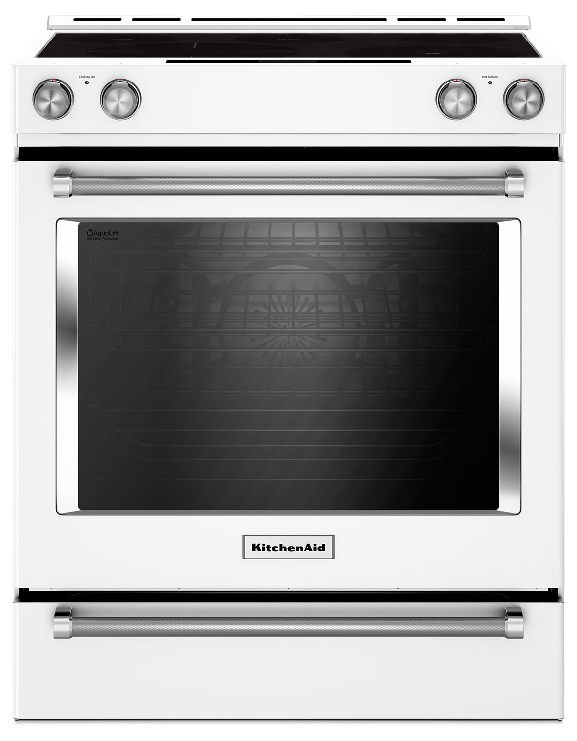 KitchenAid 7.1 Cu. Ft. Slide-In Convection Range with Baking Drawer - White