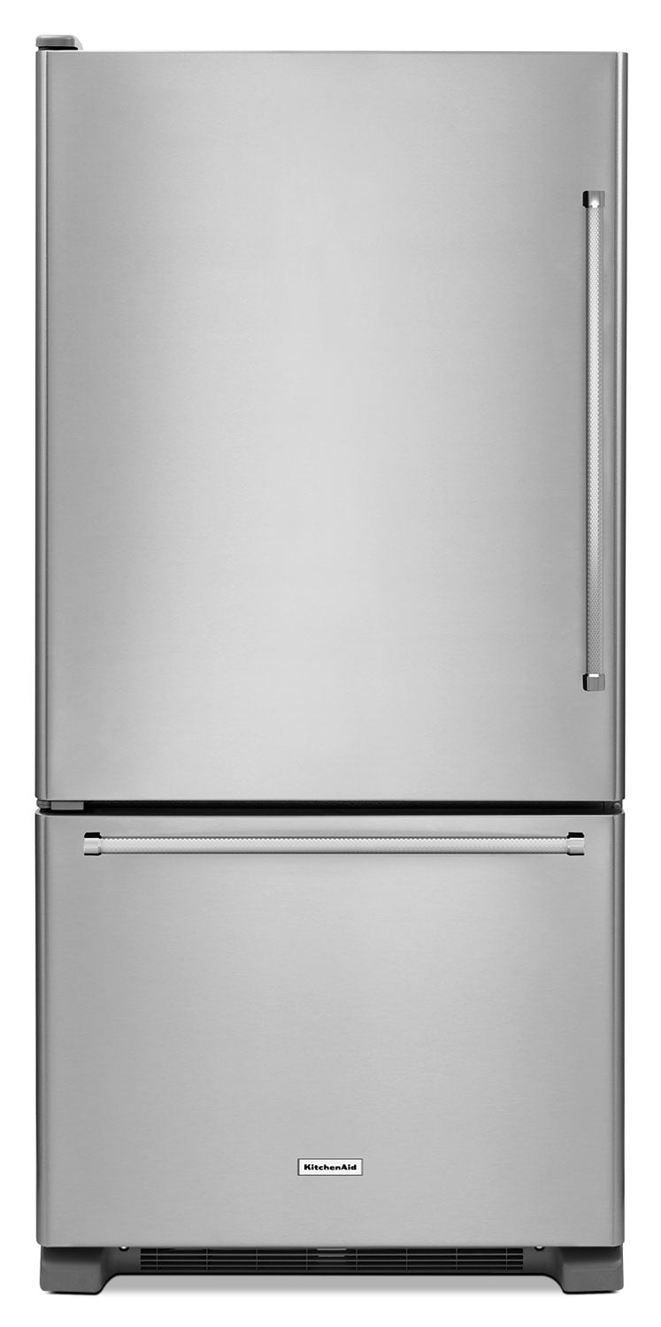 KitchenAid Stainless Steel Bottom-Freezer Refrigerator (18.7 Cu. Ft.) - KRBL109ESS