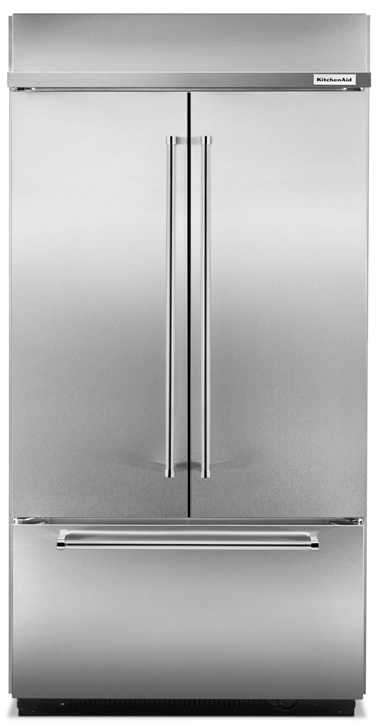 Refrigerators and Freezers - KitchenAid Stainless Steel French Door Refrigerator (24.2 Cu. Ft.) - KBFN502ESS