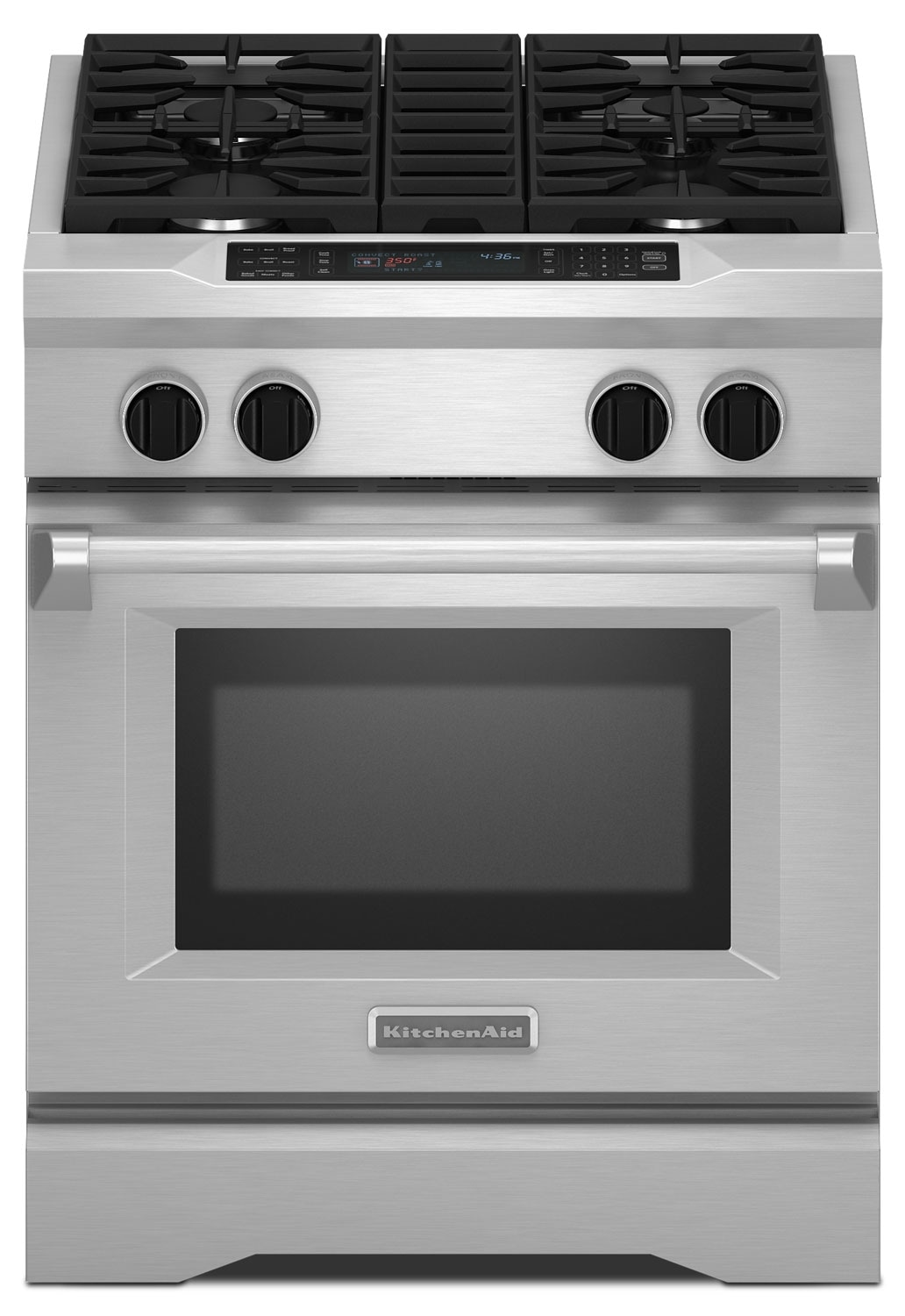 Cooking Products - KitchenAid Stainless Steel Slide-In Dual Fuel Range (4.1 Cu. Ft.) - KDRS407VSS