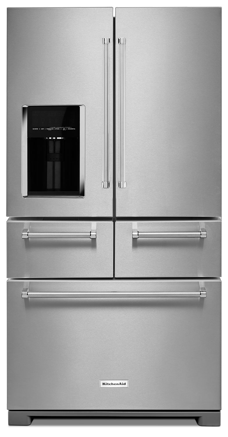 KitchenAid 25.8 Cu. Ft. Multi-Door Refrigerator with Platinum Design - Stainless Steel