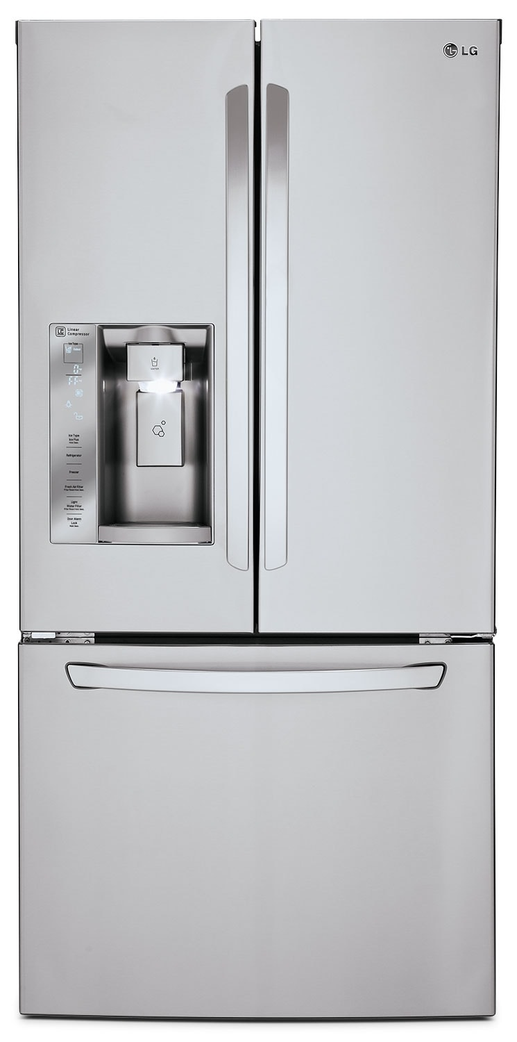 Refrigerators and Freezers - LG® 24.2 Cu. Ft. French Door Refrigerator - Stainless Steel