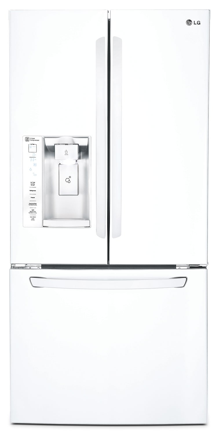 Refrigerators and Freezers - LG® 24.2 Cu. Ft. French Door Refrigerator - White