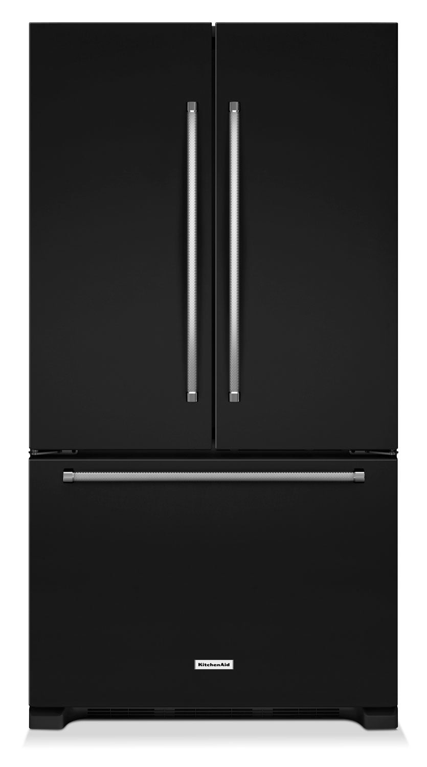 KitchenAid Black French Door Refrigerator (25 Cu. Ft.) - KRFF305EBL