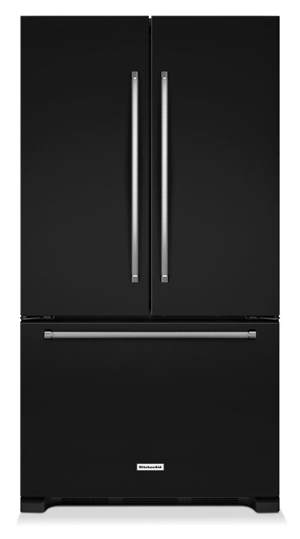 Refrigerators and Freezers - KitchenAid Black French Door Refrigerator (25 Cu. Ft.) - KRFF305EBL
