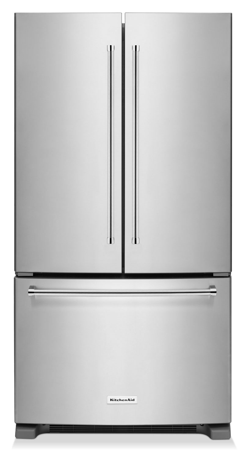 Refrigerators and Freezers - KitchenAid Stainless Steel French Door Refrigerator (25 Cu. Ft.) - KRFF305ESS