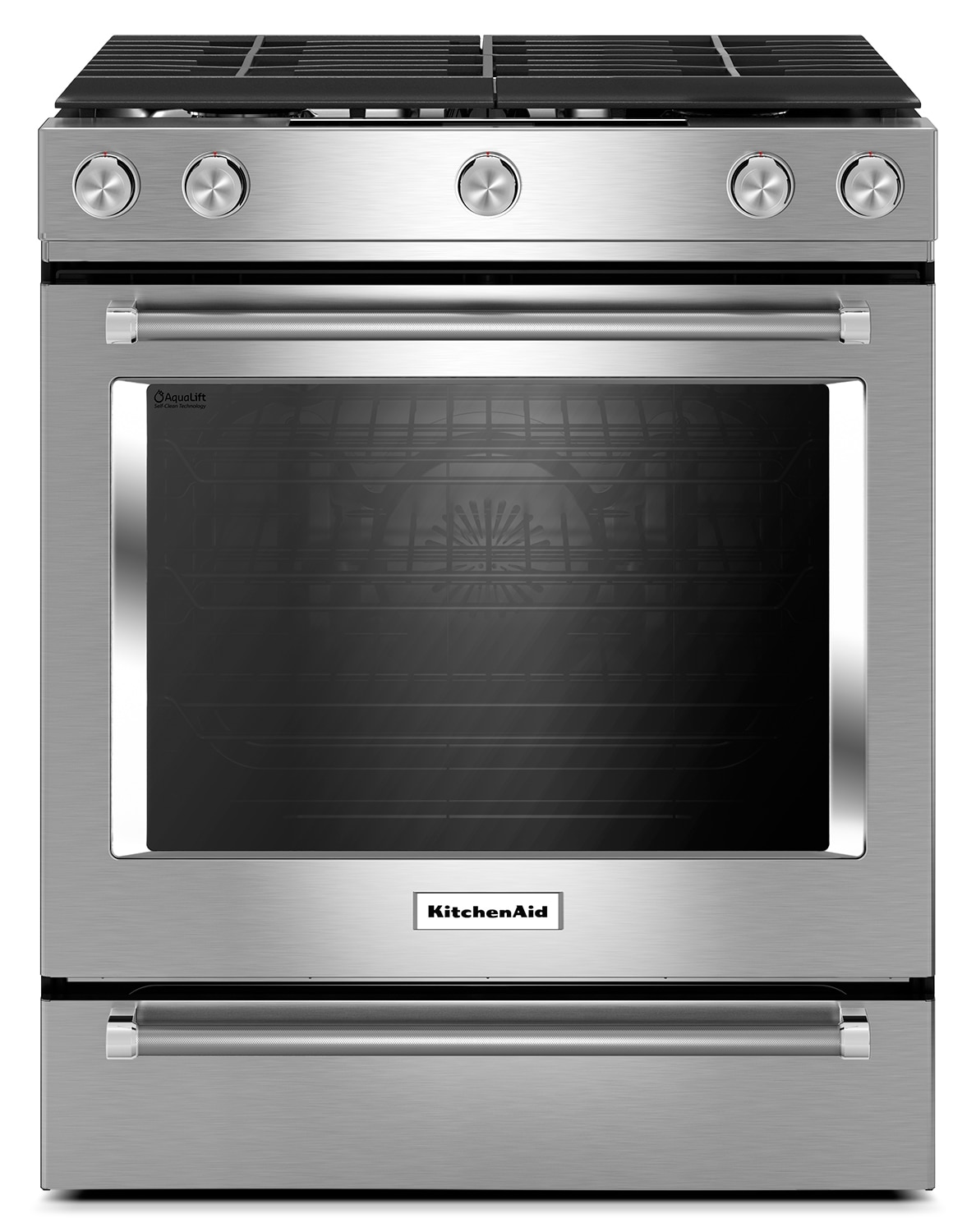 Cooking Products - KitchenAid Stainless Steel Slide-In Gas Convection Range (5.8 Cu. Ft.) - KSGG700ESS