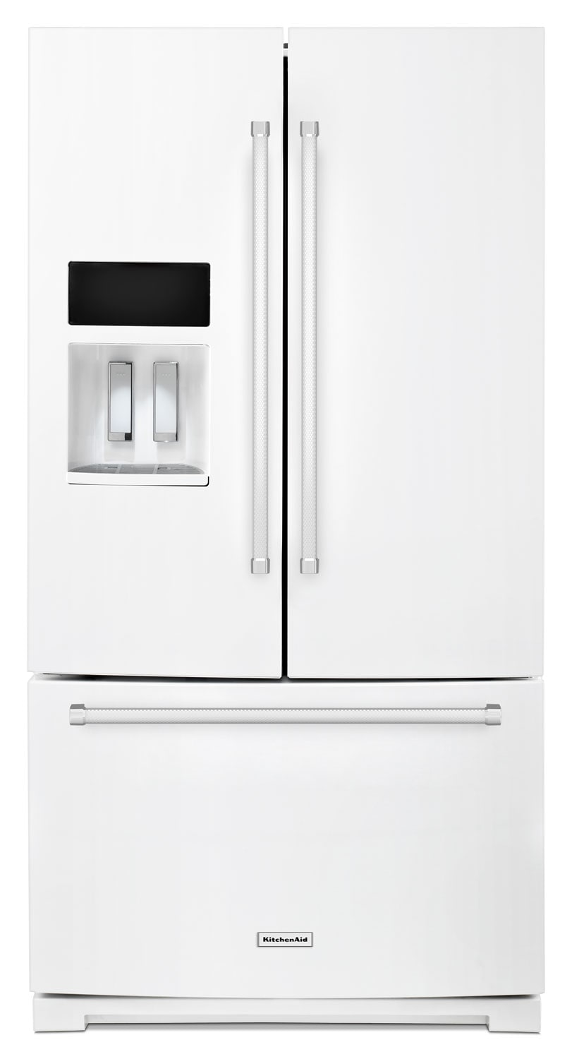 KitchenAid White French Door Refrigerator (26.8 Cu. Ft.) - KRFF507EWH