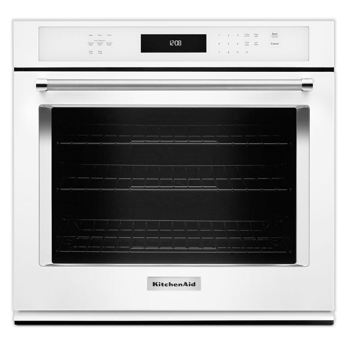Cooking Products - KitchenAid White Convection Wall Oven (5.0 Cu. Ft.) - KOSE500EWH