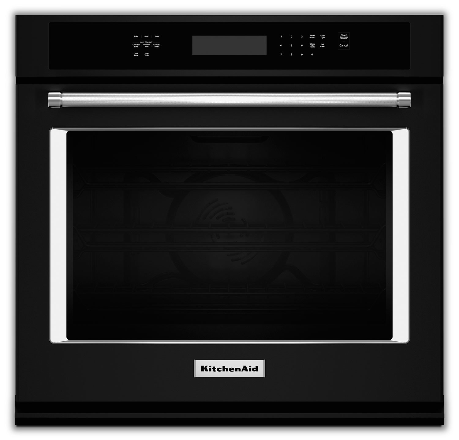 Cooking Products - KitchenAid Black Convection Wall Oven (5 Cu. Ft.) - KOSE500EBL