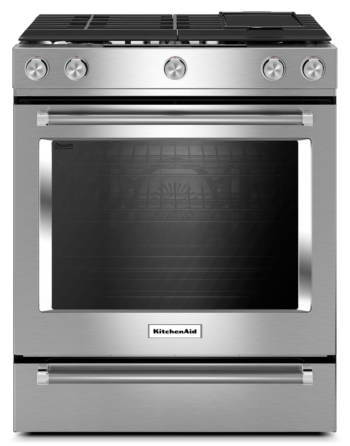 KitchenAid Stainless Steel Slide-In Dual Fuel Convection Range (7.1 Cu. Ft.) - YKSDB900ESS