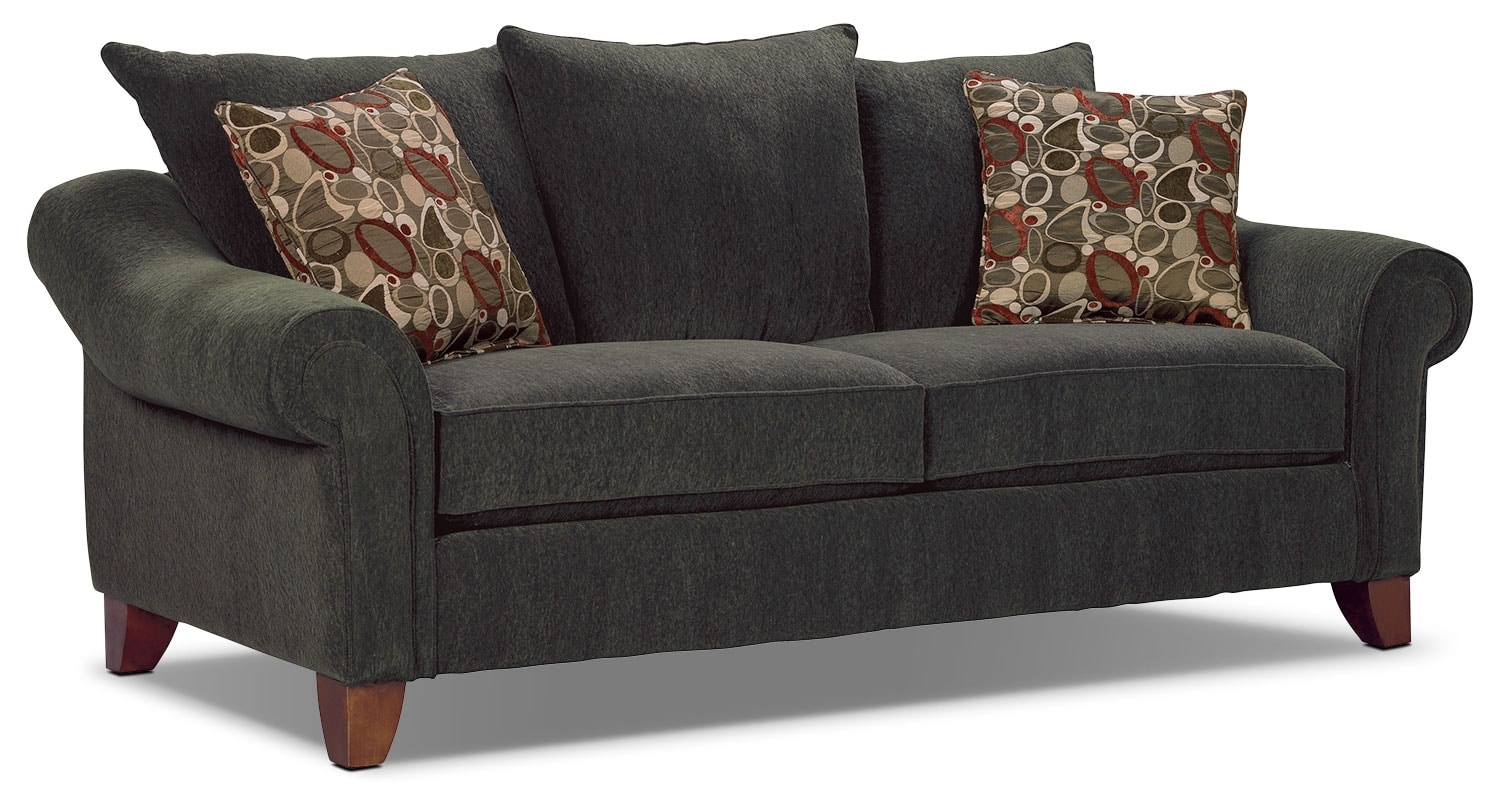 Sofa The Brick Magnificent Reese Chenille Sofa  Dark Grey  The Brick Design Inspiration