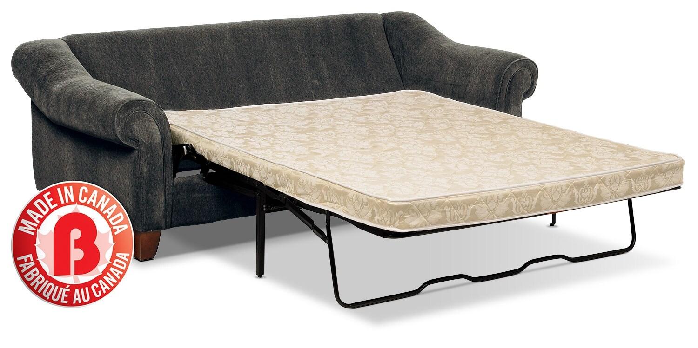 B Q Sofa Beds: Reese Chenille Queen Sofa Bed – Dark Grey