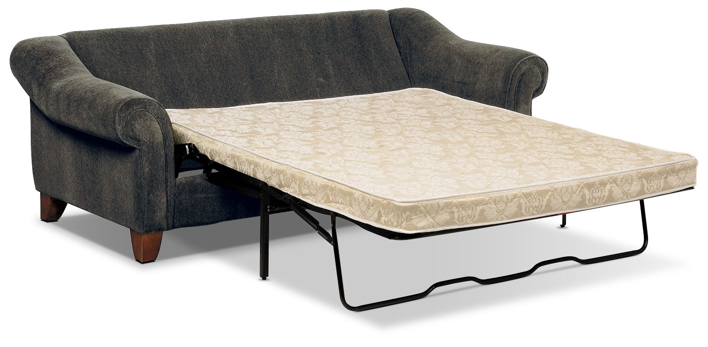 Reese Chenille Queen Sofa Bed – Dark Grey
