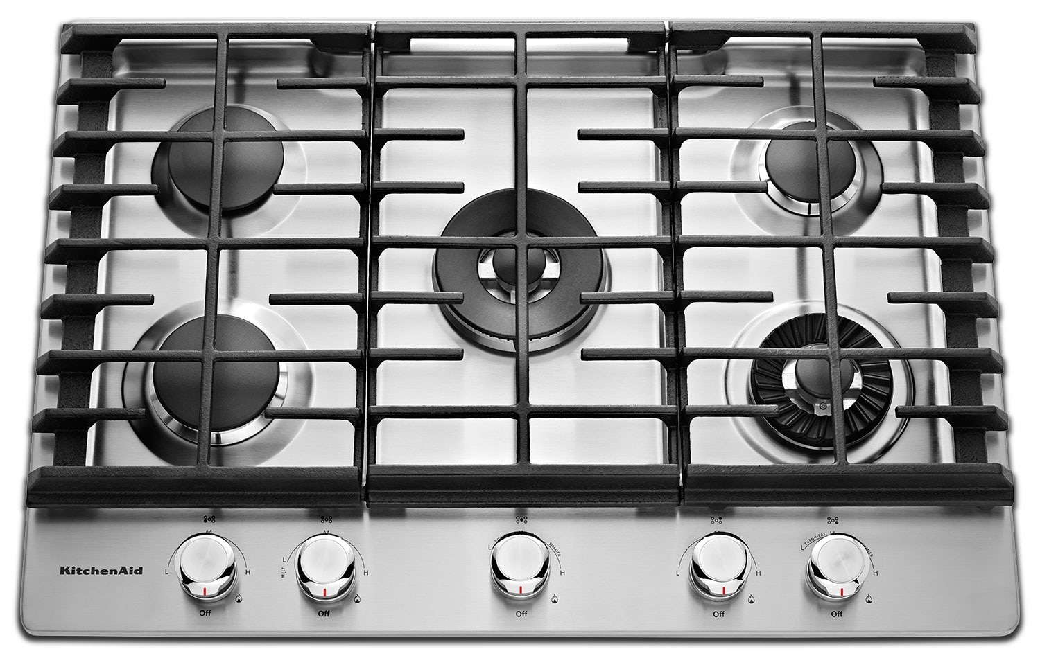 Cooking Products - KitchenAid Gas Cooktop KCGS950ESS