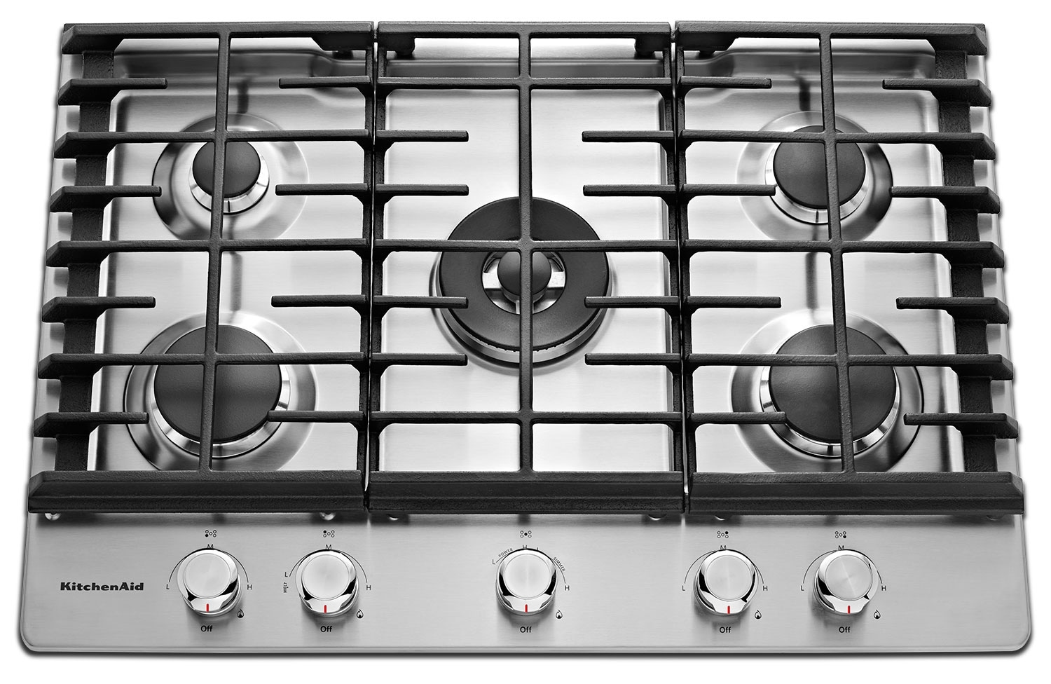 Cooking Products - KitchenAid Gas Cooktop KCGS550ESS
