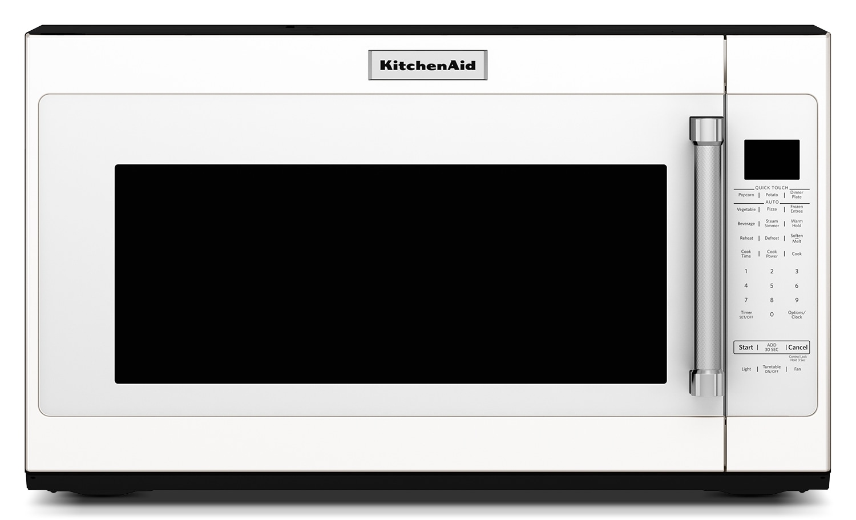 KitchenAid White Over-the-Range Microwave (2.0 Cu. Ft.) - YKMHS120EW