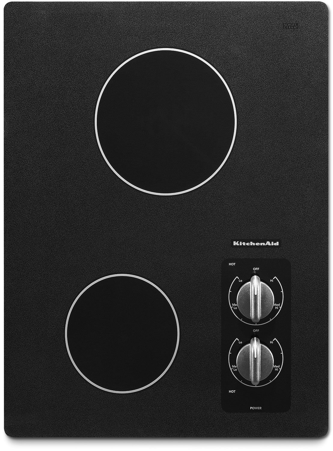 "Cooking Products - KitchenAid Black Stainless Steel 15"" Electric Cooktop - KECC056RBL"