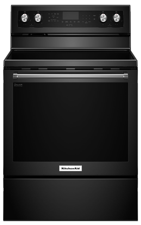Cooking Products - KitchenAid 6.4 Cu Ft. Five-Element Electric Convection Range - Black