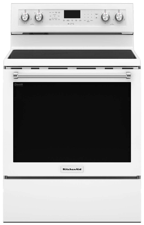 KitchenAid 6.4 Cu Ft. Five-Element Electric Convection Range - White