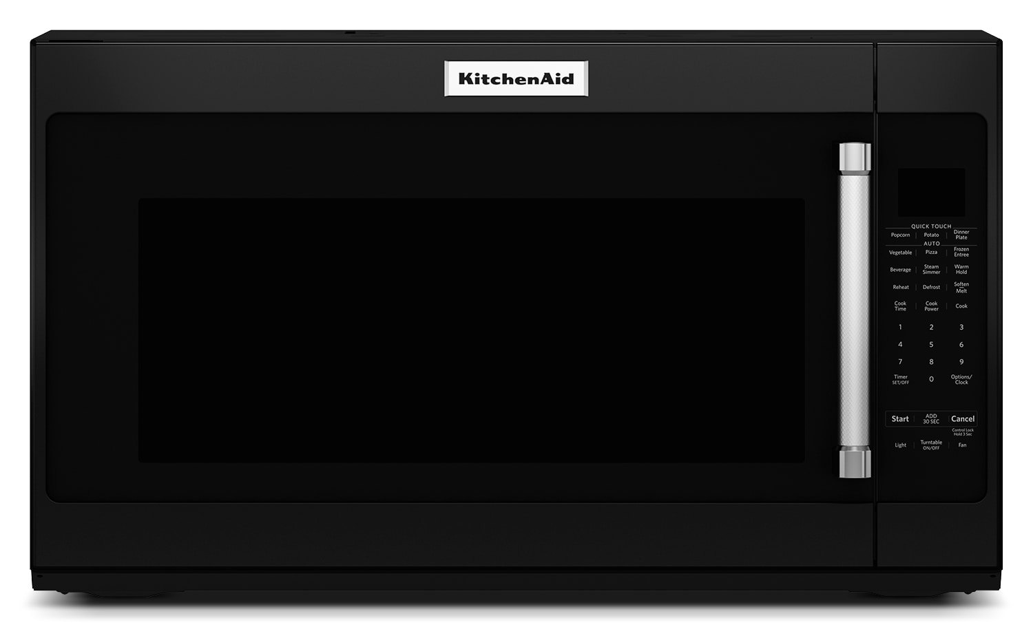 Cooking Products - KitchenAid Black Over-the-Range Microwave (2.0 Cu. Ft.) - YKMHS120EB