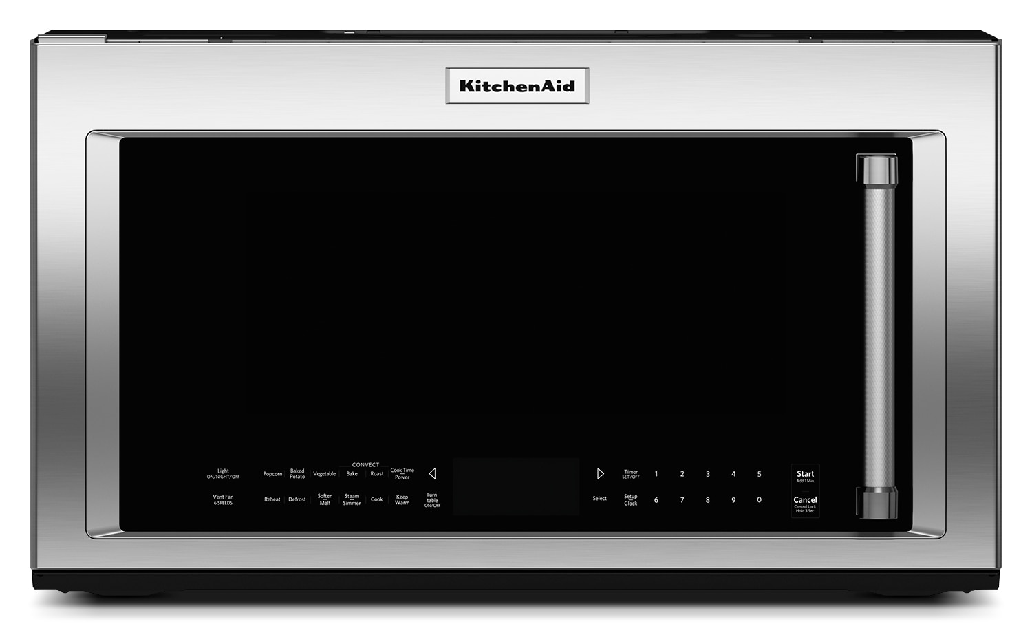 Kitchenaid stainless steel over the range microwave 1 9 for Kitchenaid microwave