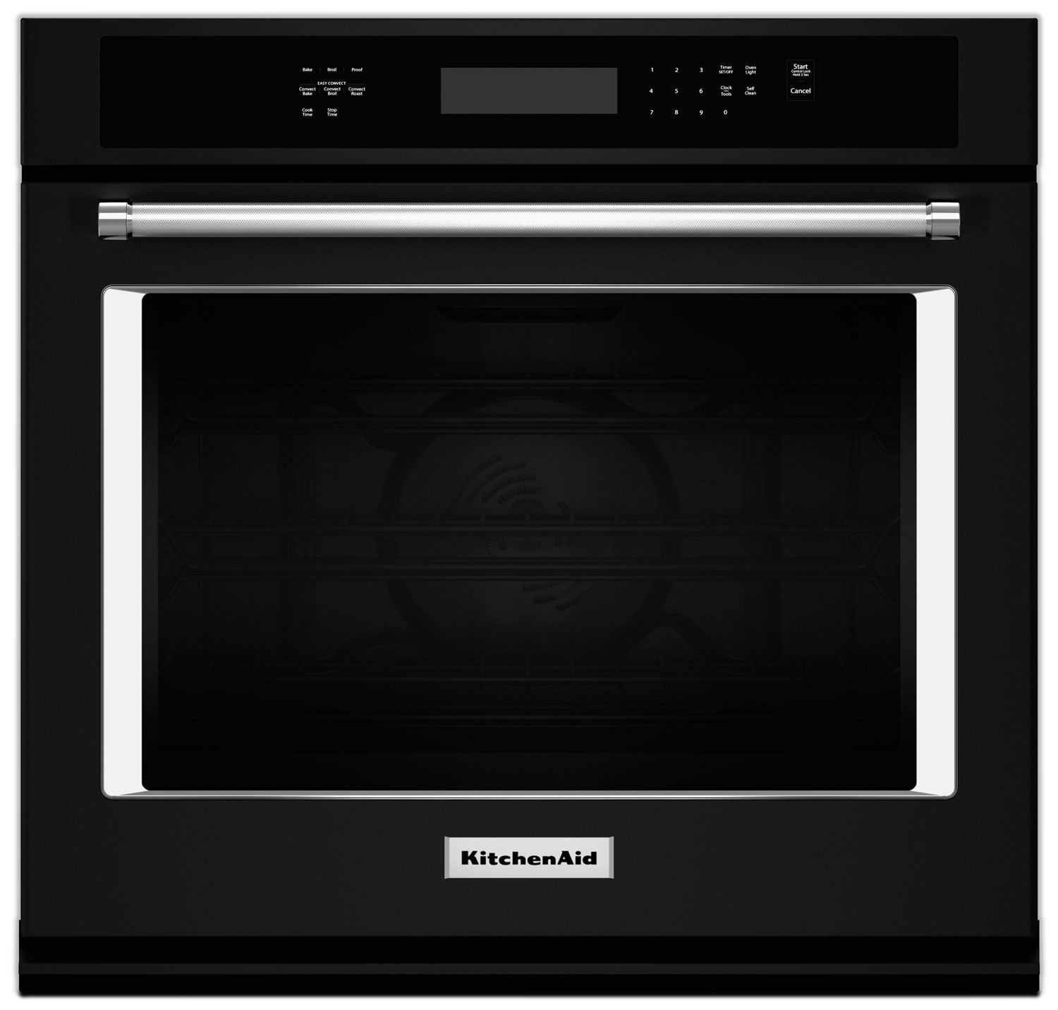 Cuisinières - Four mural simple KitchenAid de 4,3 pi³ à convection véritable Even-Heat(MC) - noir