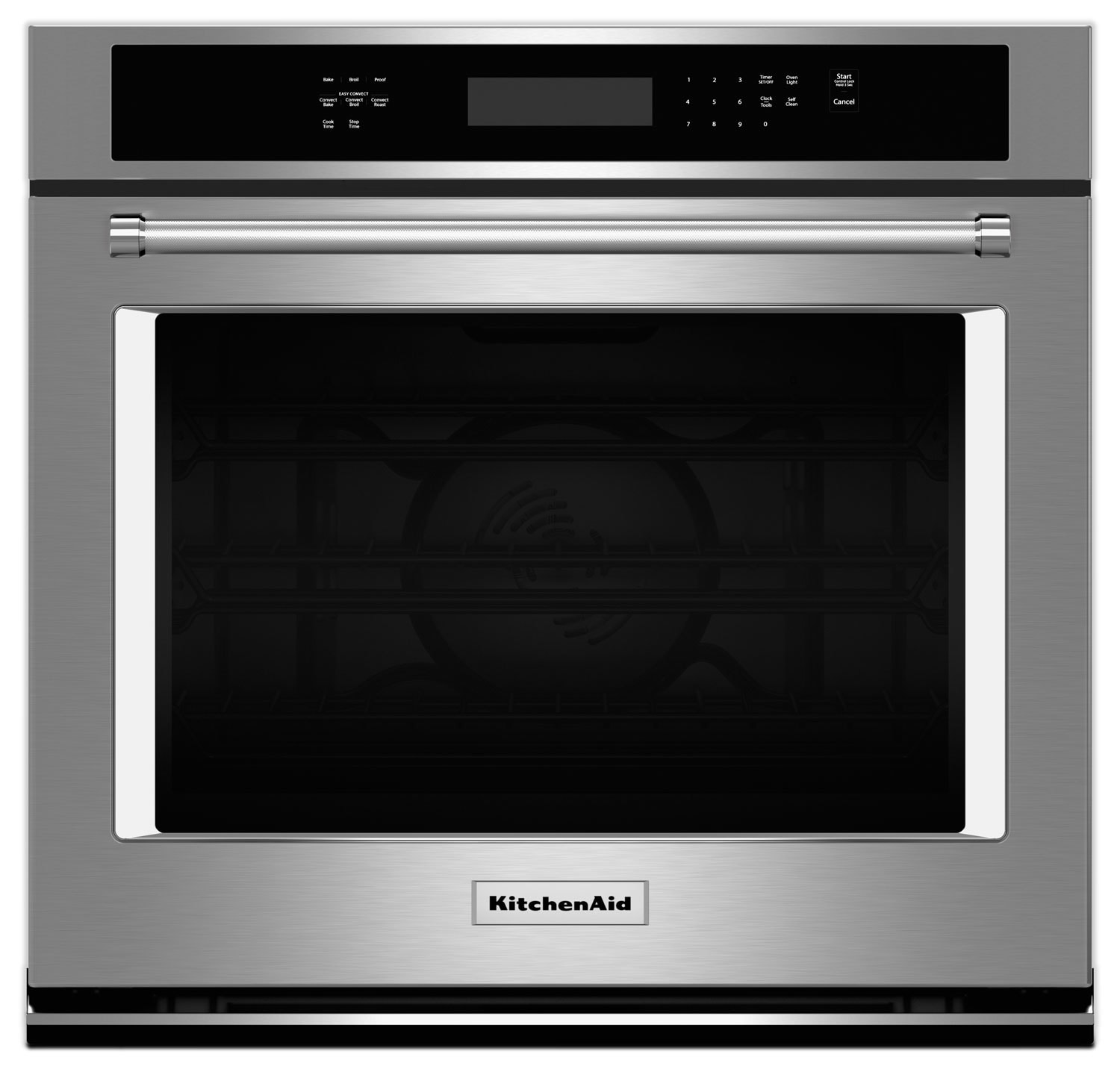Cooking Products - KitchenAid 4.3 Cu. Ft. Single Wall Oven with Even-Heat™ True Convection - Stainless Steel