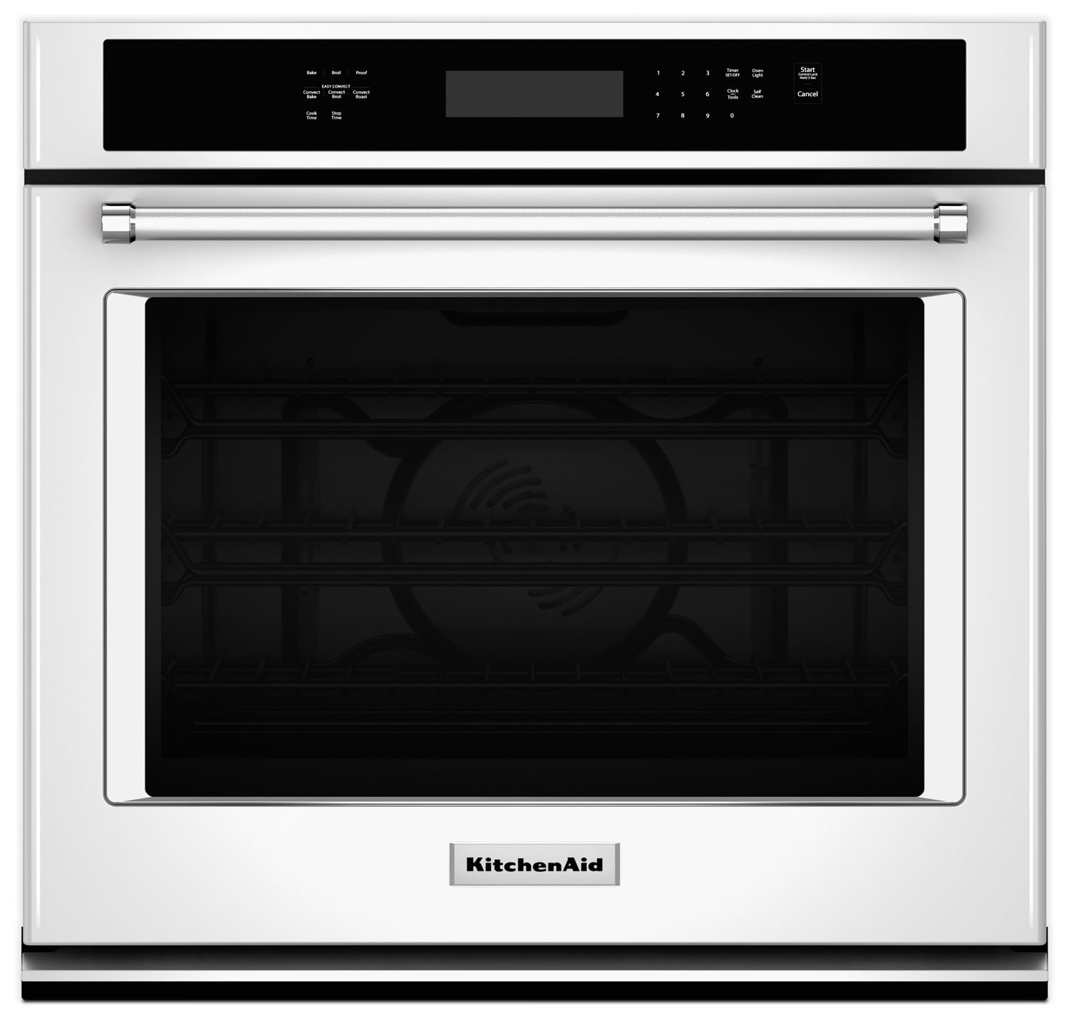 Cooking Products - KitchenAid 4.3 Cu. Ft. Single Wall Oven with Even-Heat™ True Convection - White