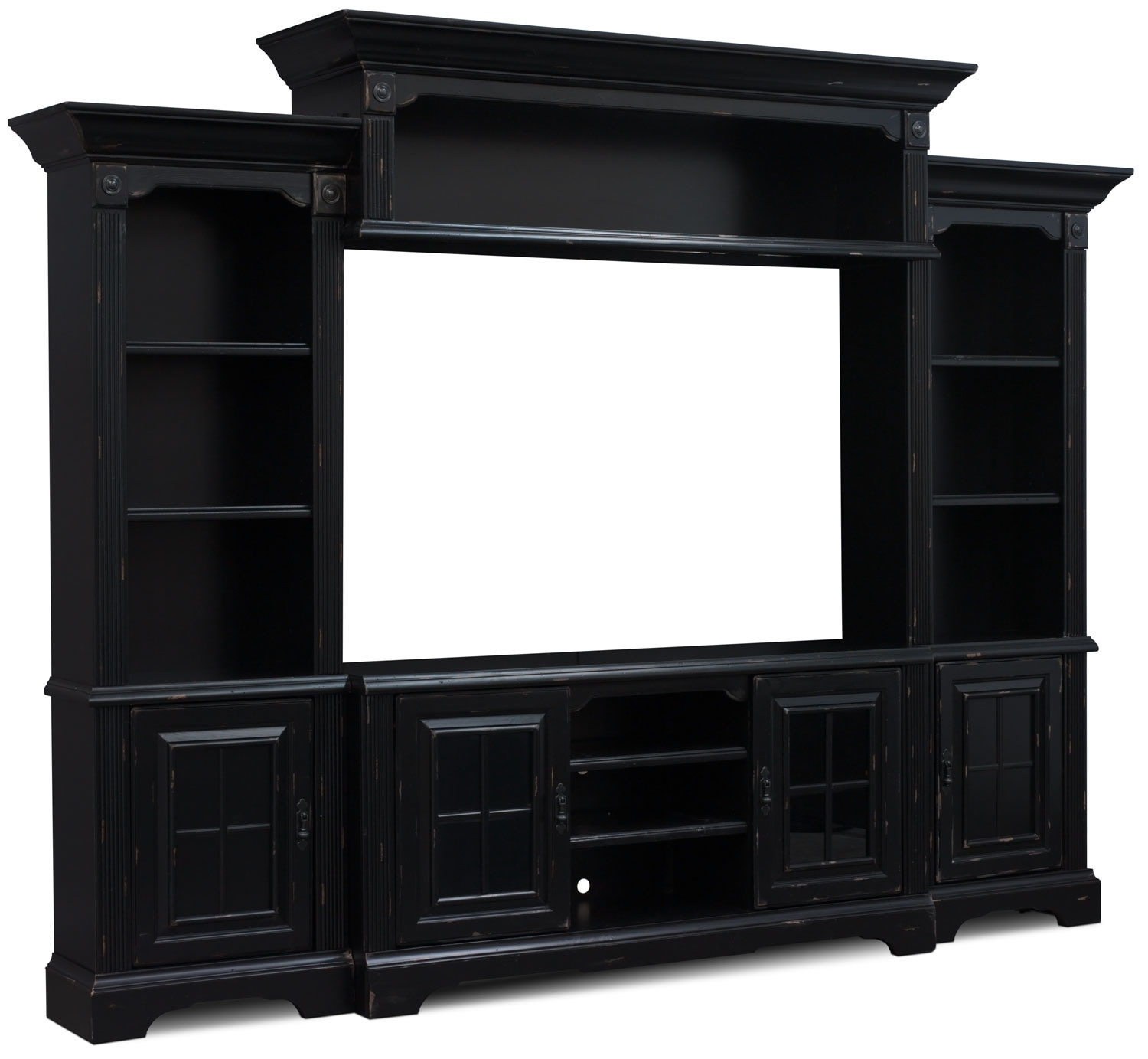"Entertainment Furniture - Charleston 4-Piece Entertainment Centre with 66"" TV Opening"