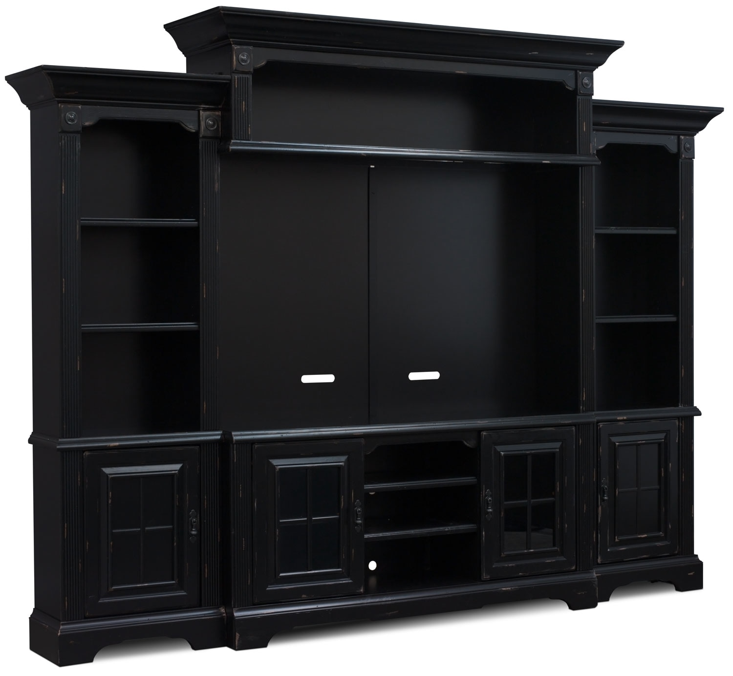 "Entertainment Furniture - Charleston 5-Piece Entertainment Centre with 66"" TV Opening"