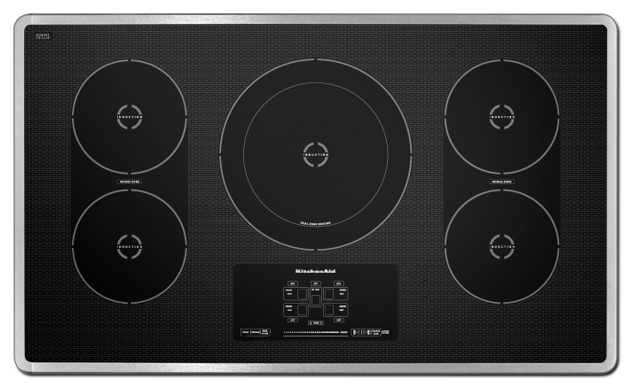 Cooking Products - KitchenAid 36'' Electric Induction Cooktop – KICU569XSS