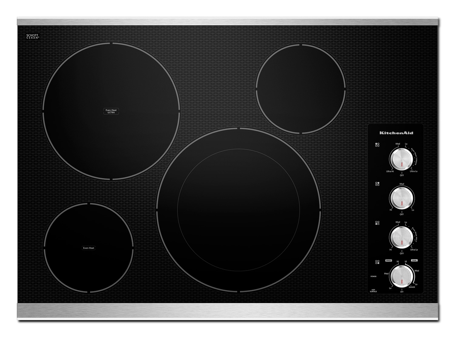 Cooking Products - KitchenAid Electric Cooktop KECC604BSS