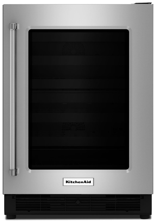 KitchenAid Stainless Steel Undercounter Refrigerator w/ Right Door Swing (5.1 Cu Ft.) - KURR204ESB