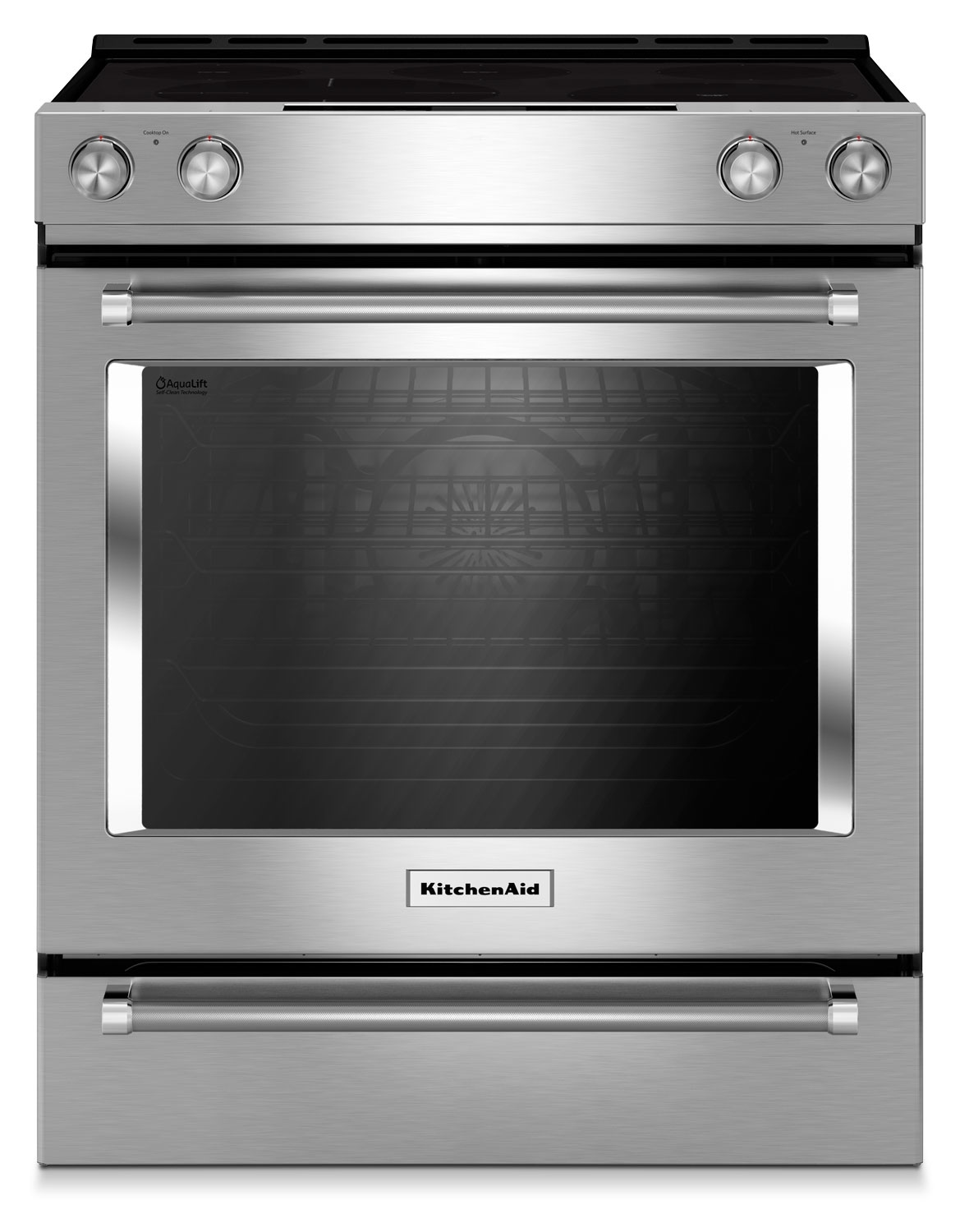 Cooking Products - KitchenAid Stainless Steel Slide-In Electric Convection Range (6.4 Cu. Ft.) - YKSEG700ESS