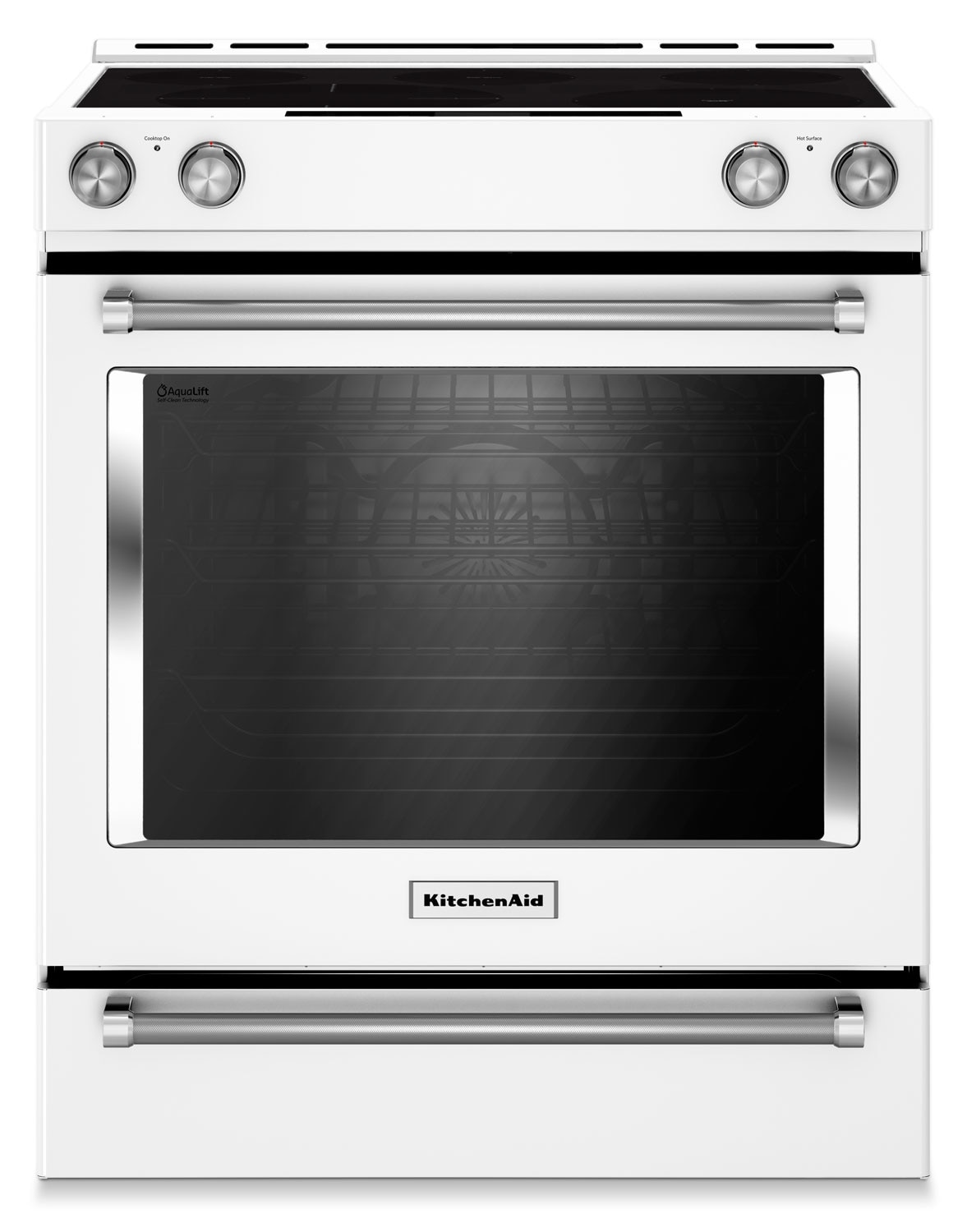 Cooking Products - KitchenAid White Slide-In Electric Convection Range (7.1 Cu. Ft.) - YKSEB900EWH