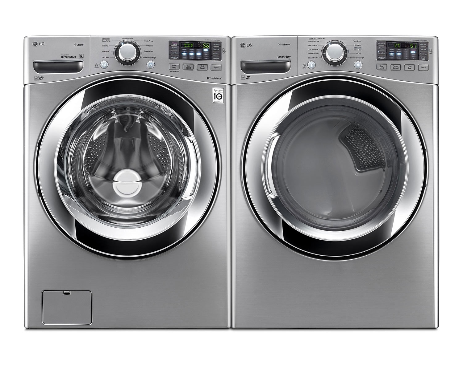 [LG Graphite Steel Front-Load Laundry Pair]